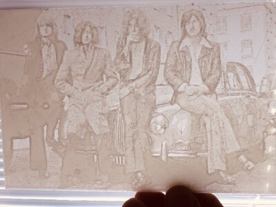Led Zeppelin Lithophane Picture - Add Some  Rock Legends To Your Arcade!