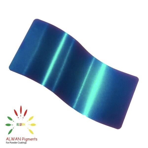Glossy Green Candy&Chrome Alwan powder coating china Wholesale powder coating high glossy epoxy polyester 20kg/Box