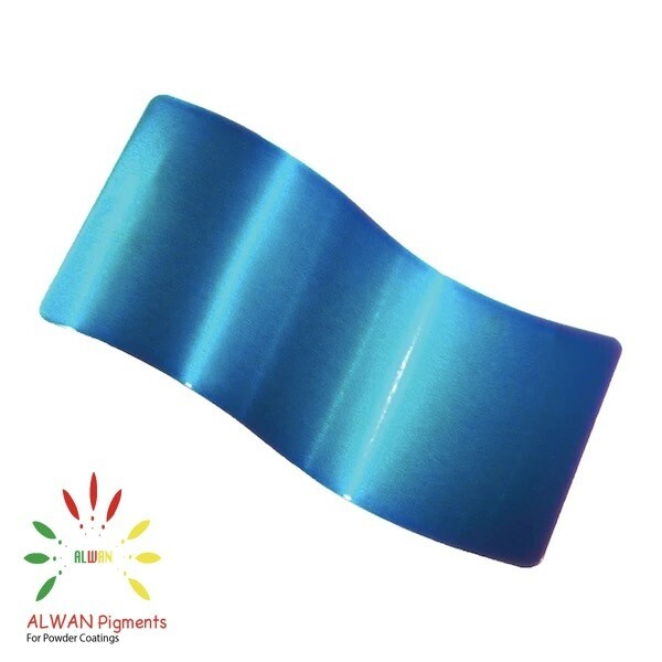 Lite Blue Candy&Chrome Alwan powder coating china Wholesale powder coating high glossy epoxy polyester 20kg/Box