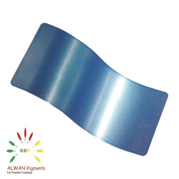 Soft Blue Candy&Chrome Alwan powder coating china Wholesale powder coating high glossy epoxy polyester 20kg/Box