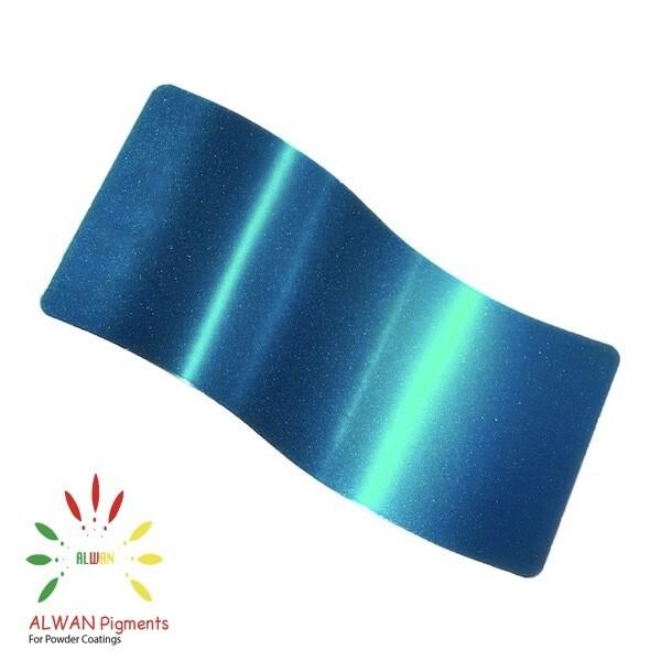 Sparky Blue Candy&Chrome Alwan powder coating china Wholesale powder coating high glossy epoxy polyester 20kg/Box