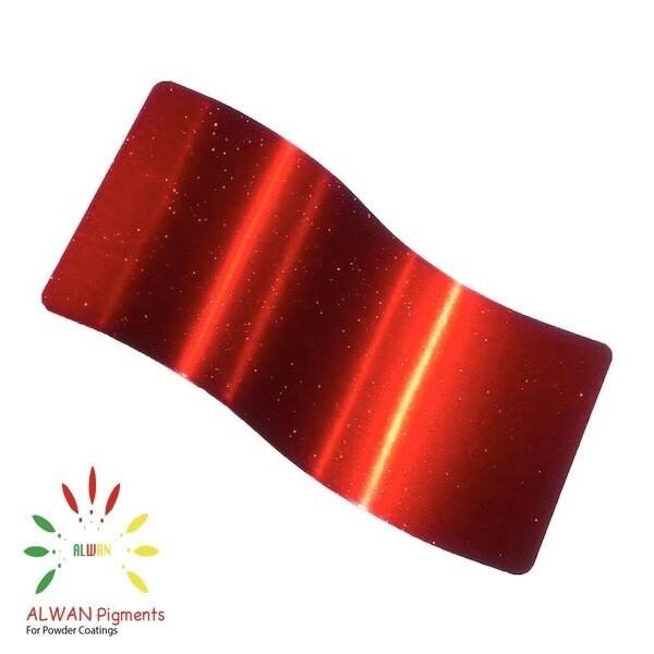 Sparky Flame red Candy&Chrome Alwan powder coating china Wholesale powder coating high glossy epoxy polyester 20kg/Box