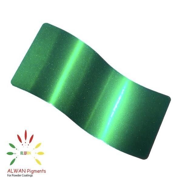 Sparky Green Candy&Chrome Alwan powder coating china Wholesale powder coating high glossy epoxy polyester 20kg/Box