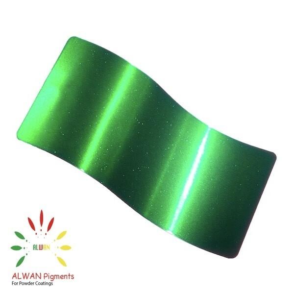 Sparky Trans Green Candy&Chrome Alwan powder coating china Wholesale powder coating high glossy epoxy polyester 20kg/Box