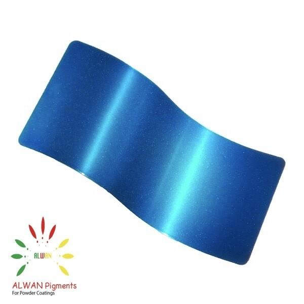 Sky Blue Candy&Chrome Alwan powder coating china Wholesale powder coating high glossy epoxy polyester 20kg/Box