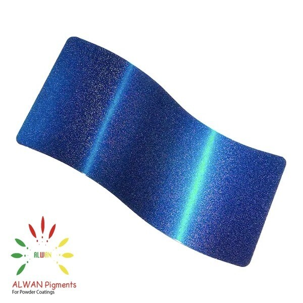 Sparky Space Blue Candy&Chrome Alwan powder coating china Wholesale powder coating high glossy epoxy polyester 20kg/Box