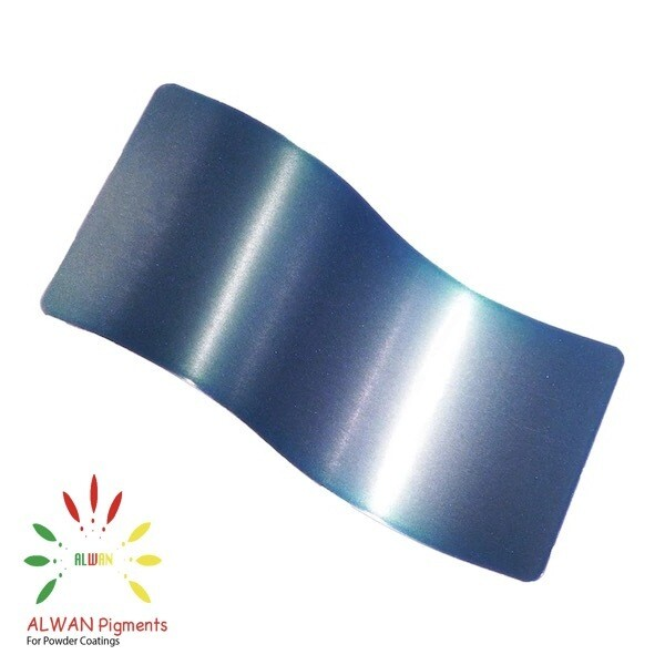 Ultra Soft Blue Candy&Chrome Alwan powder coating china Wholesale powder coating high glossy epoxy polyester 20kg/Box