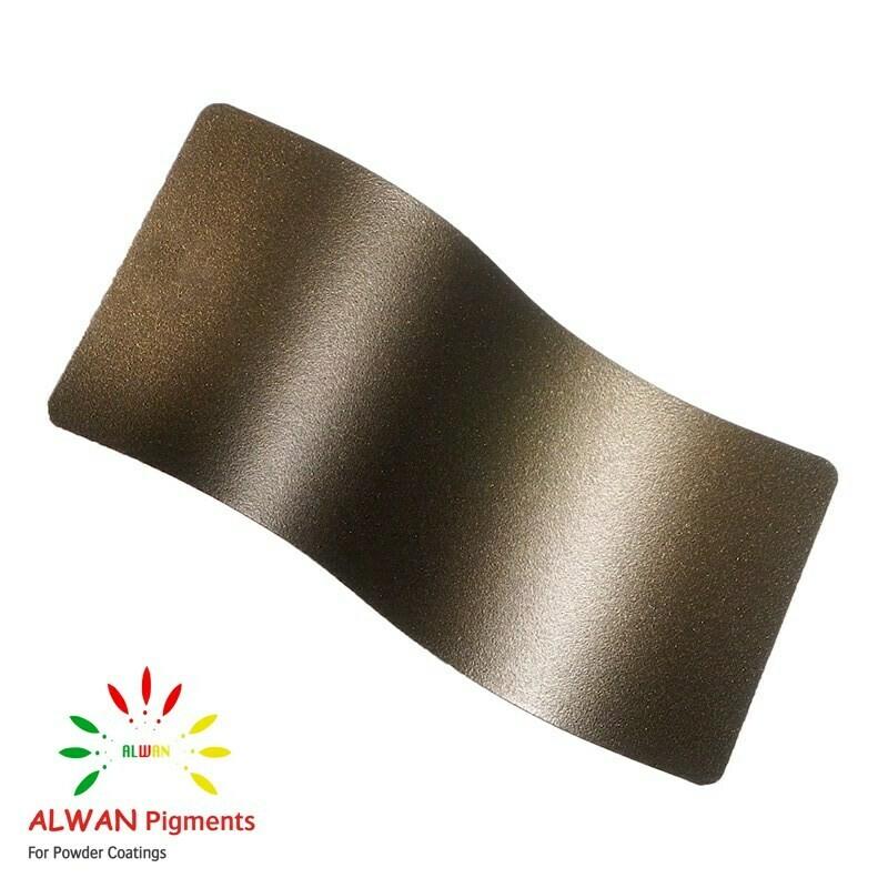 Brown Bronze Texture Alwan powder coating china Wholesale powder coating high glossy epoxy polyester 20kg/Box