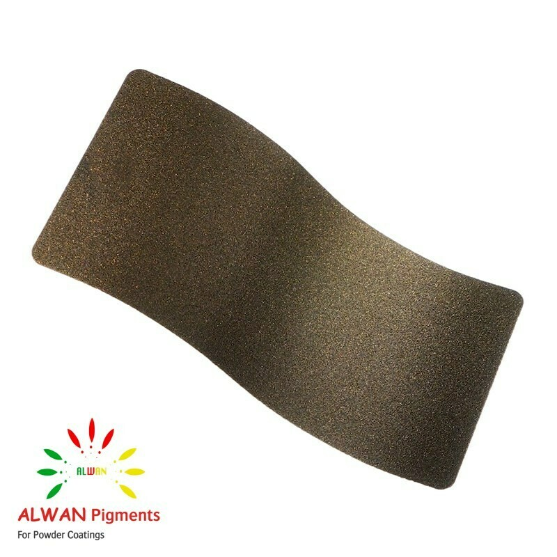 Dark Gold Texture Alwan powder coating china Wholesale powder coating high glossy epoxy polyester 20kg/Box
