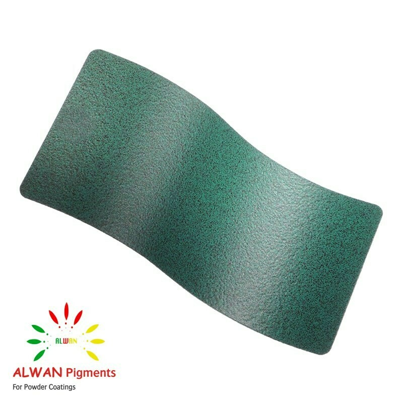Mid-green Texture Alwan powder coating china Wholesale powder coating high glossy epoxy polyester 20kg/Box
