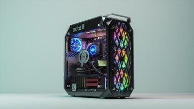 [電腦組合] OCTA 2R+ X 華碩25吋電競顯示器套裝連 Logitech / Roccat 電競鍵盤, 滑鼠及耳機