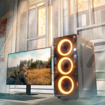 MINION (2021) + 華碩24吋顯示器套裝連鍵盤滑鼠揚聲器