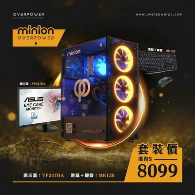 [電腦組合] MINION R + 華碩24吋顯示器套裝連鍵盤滑鼠