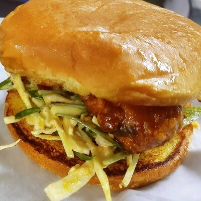 Kanpoongi Chicken Sandwich: Sweet & Spicy Chicken BOMB Burger