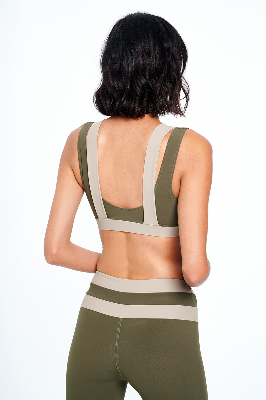 FUNCTION Two-tone  sports bra