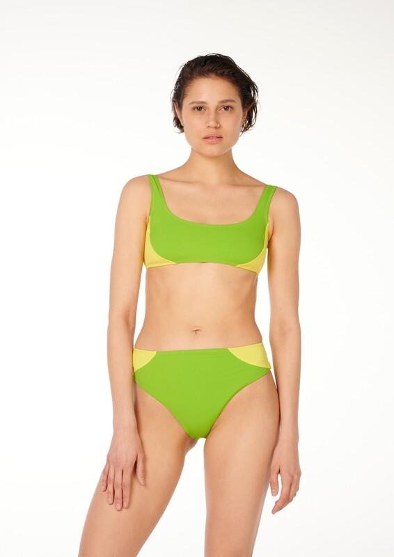 COSMIC Two-Tone High-Waisted Bikini