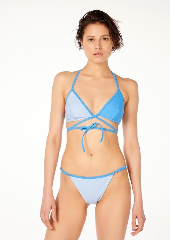 CREST Two-Tone Wraparound Bikini