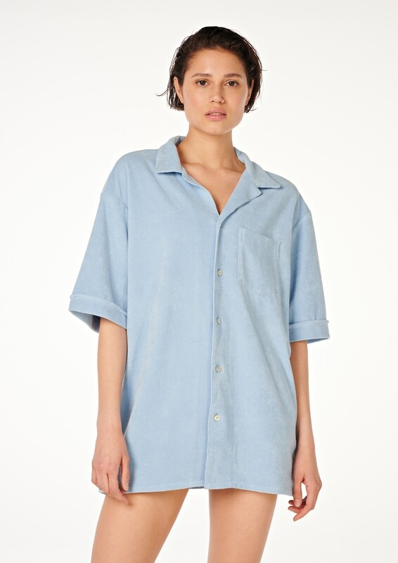 LAYBACK Oversized Cotton-Terry Shirt