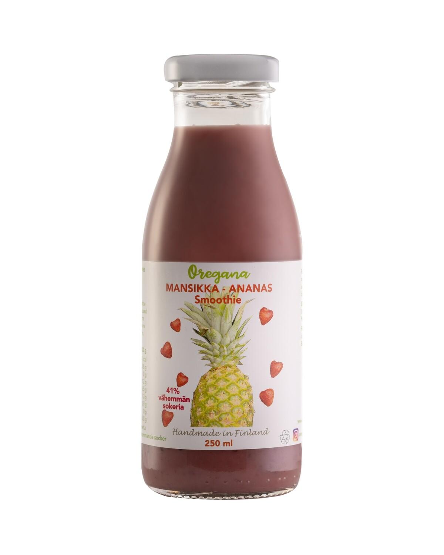 Oregana MANSIKKA-ANANAS smoothie, 10 ploa