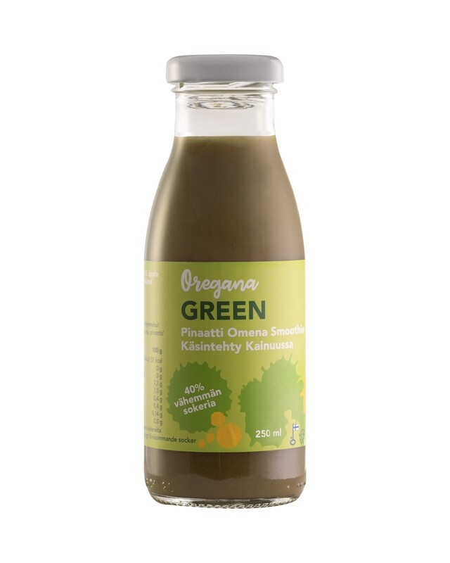 Oregana GREEN pinaatti-omena smoothie,  10 ploa