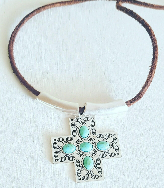 Collar Cross silver