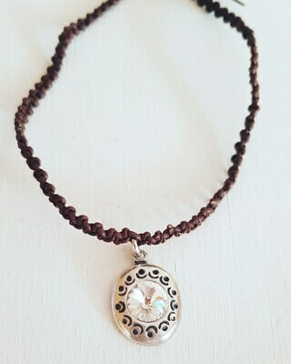Collar Swarovski white