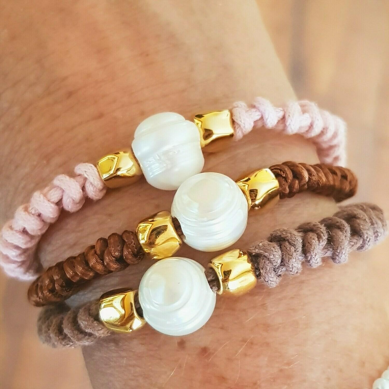 Pulsera snake & pearl