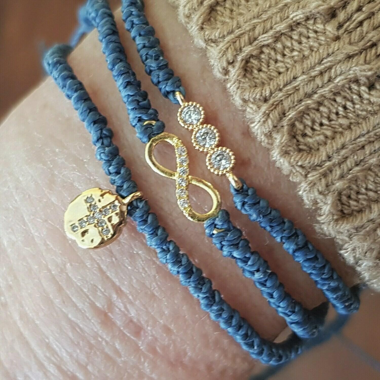 Pulseras gold & blue
