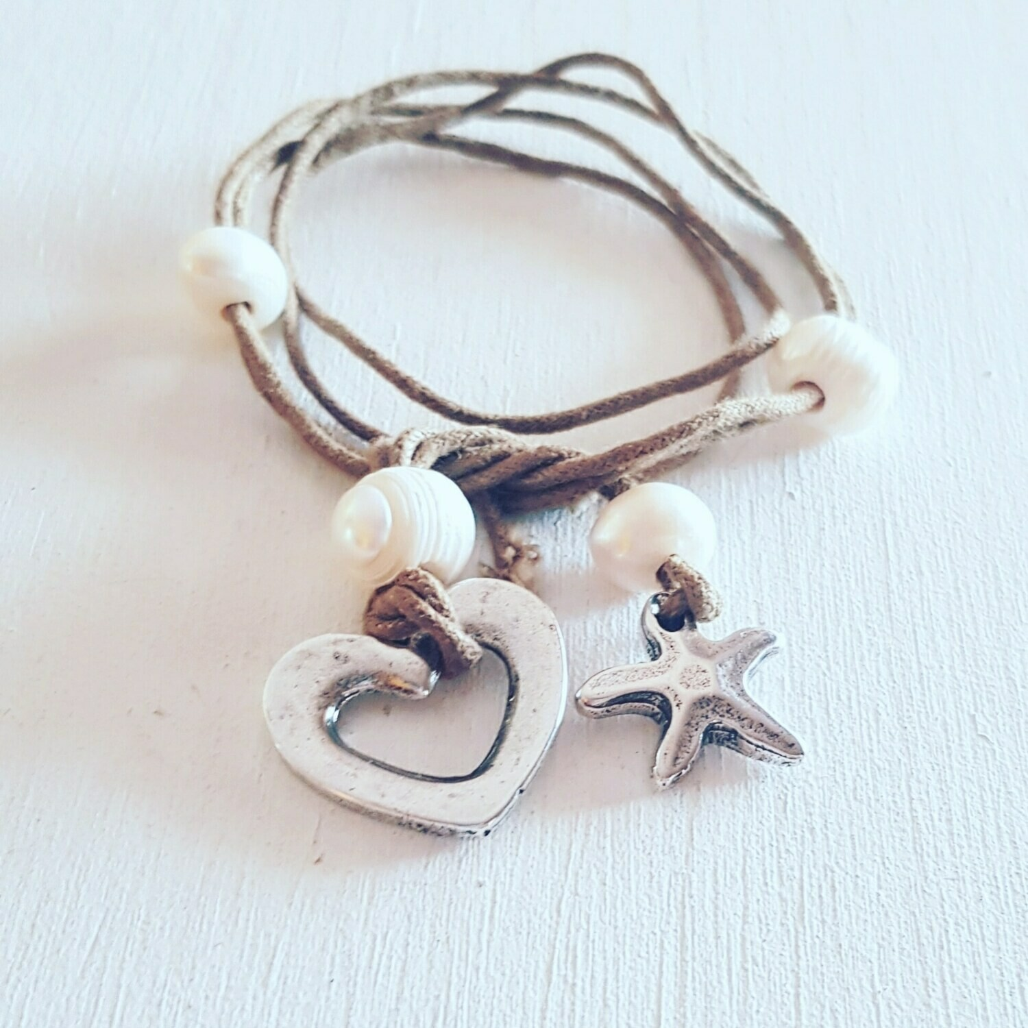 Pulsera/collar heart & star