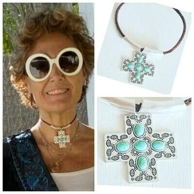 Collar silver cross