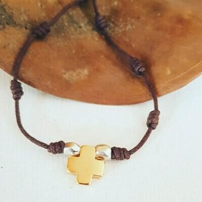 Collar cross gold