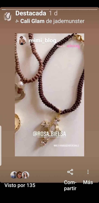 Collar  Virgen cross