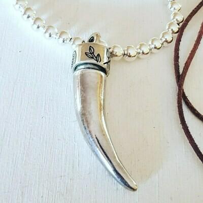 Collar Tusk silver II