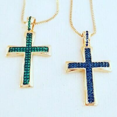 Collar cross green