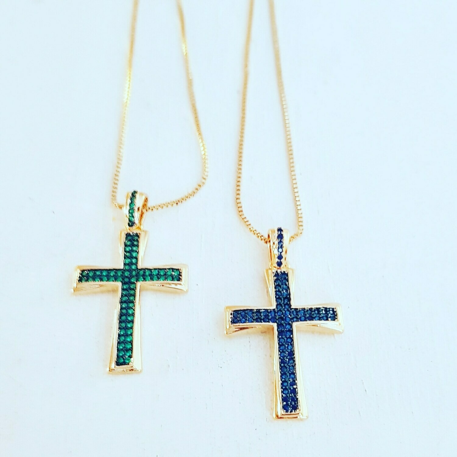 Collar cross blue