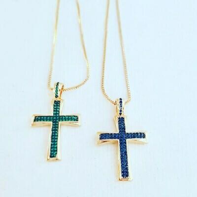 Collar cross blue