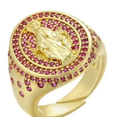 Anillo gold Virgen