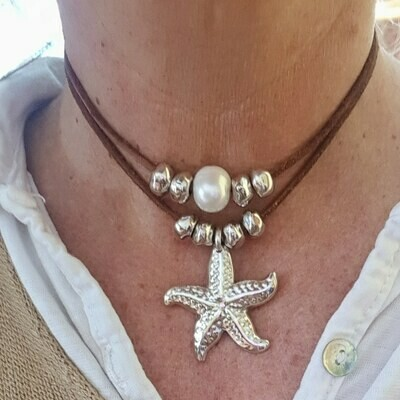 Collar Star & pearl