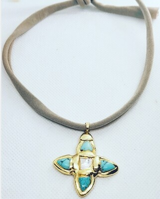 Collar  cross gold Mimi
