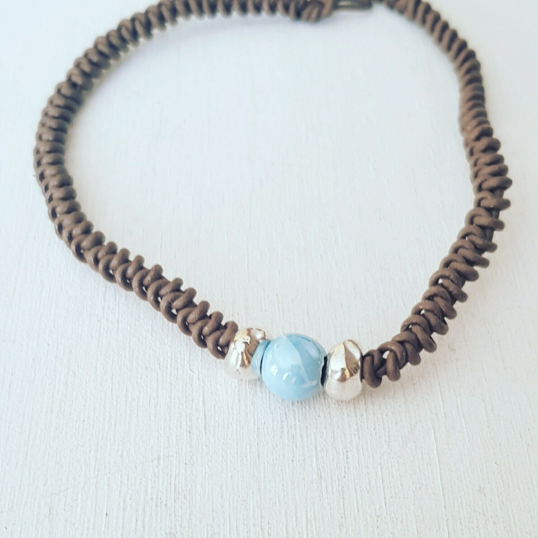 Collar snake & blue