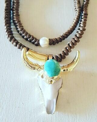 Collar bufalo & perla