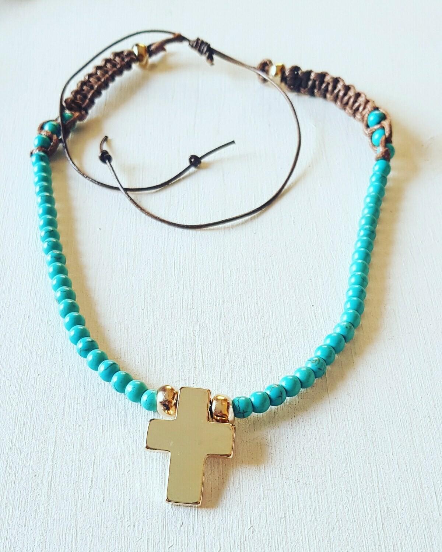 Collar Eva gold blue