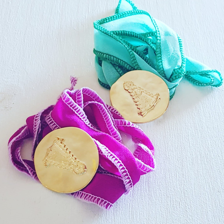 Pulsera/ collar Silk Rocio