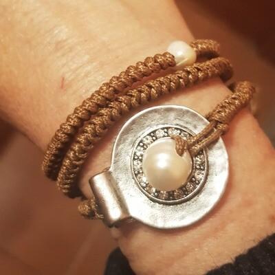 Pulsera silver pearl