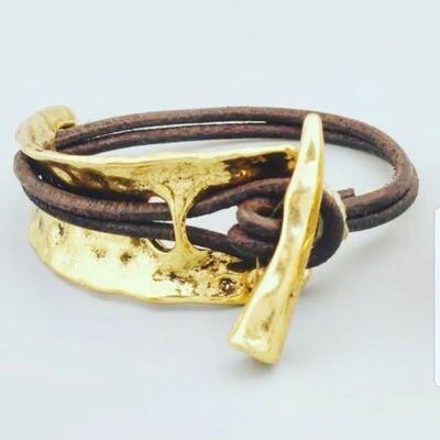 Pulsera tusk gold