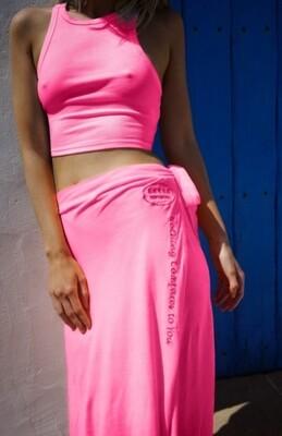 Falda Montana Pink/Grey/naranja
