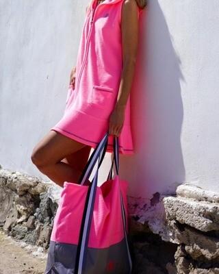 Vestido Vela rosa fluor