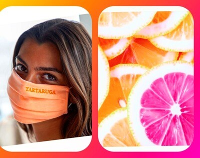 Mascarilla naranja fluor
