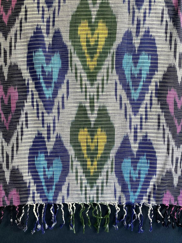 Шарф из хлопка ручного ткачества