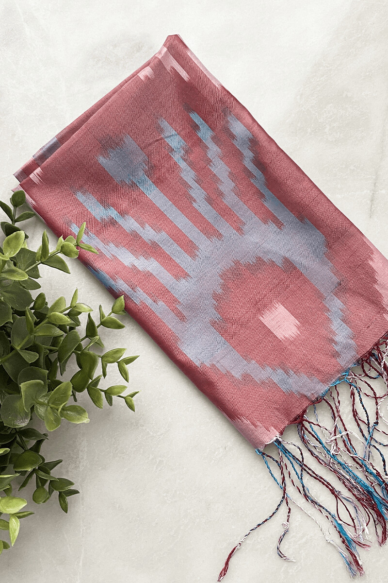Шелковый шарф ручной работы